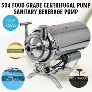 Portable 110v 750w 304 Food Grade Centrifugal Pump Sanitary Beverage Pump 3t h
