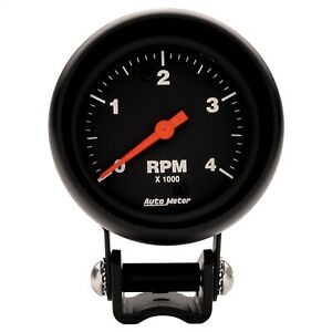 Autometer 2890 Z series Electric Tachometer With Black Dial Face
