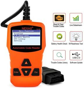 Nexas Engine Light Scan Tool Obd2 Live Data Read Clear Codes New Version