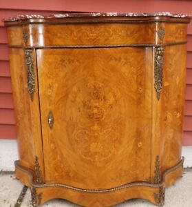 Antique Inlaid Satinwood French Style Cabinet Commode Karpen Furniture 1920 S