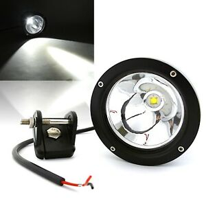 3 Led Round Spot Light Boat Work Truck Grill Bumper Off Road Fits Jeep