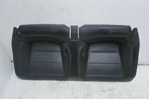 2015 Ford Mustang 2 3l Premium Ecoboost Rear Seat Bottom Portion Black Leather