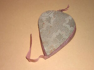 Antique Vintage Pin Cushion Needle Book Brocade Silk Wool Sewing Tools