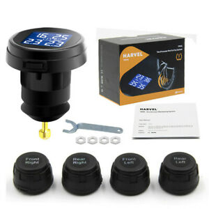 Car Tpms Tire Pressure Monitoring System Wireless 4 Sensors Cigarette Lighter
