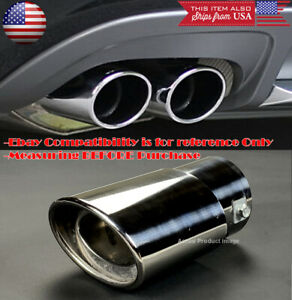 Oe Polished Stainless Steel Exhaust Muffler Tip For Honda Acura 1 5 2 Pipe