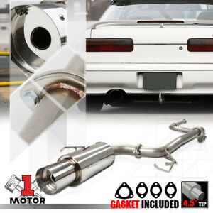 Stainless Steel Catback Exhaust System 4 5 Muffler Tip For 90 93 Acura Integra
