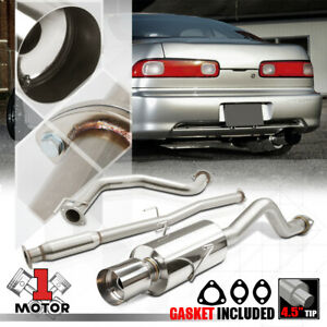 Stainless Steel Catback Exhaust System 4 Muffler Tip For 94 01 Integra Gs Ls Rs