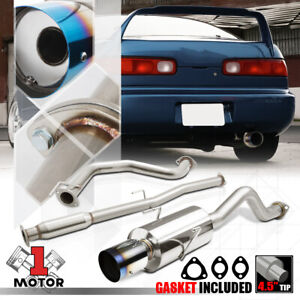 Ss Catback Exhaust System 4 Burnt Tip Muffler For 94 01 Acura Integra Gs ls rs