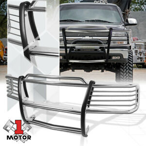 Stainless Steel Grille Headlight Guard For 99 02 Silverado 00 06 Tahoe Suburban