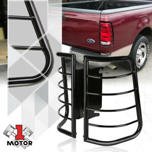 Black Stainless Steel Tail Light Guard Protector For 99 07 F250 F350 F450 F550