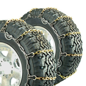 Titan Alloy Square Link Truck Cam Tire Chains On Road Ice Snow 5 5mm 225 70 19 5