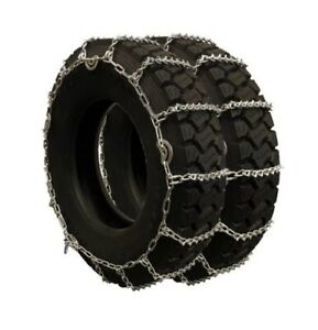 Titan Truck V bar Link Tire Chains Dual Cam On Road Ice snow 5 5mm 9 50 16 5