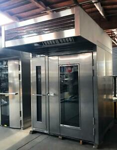 Lbc Lro 2g Bakery Kitchen Equipment Double Roll In Rotating Rack Gas Baking Oven