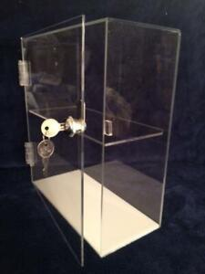 Usa Acrylic Countertop Display Case 10 X 4 5 X 11 5 Hinged Door Key Lock