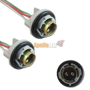 1pair 1157 2057 2357 Wiring Harness Adapter W Socket For Auto Led Light Bulbs