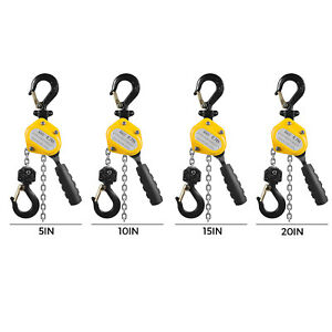 0 75t Lever Chain Hoist Mini Lever Chain Hoist Solid Grips Safety Latches Puller