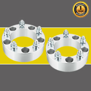 2pc For Dodge Ram 1500 5x5 5 To 5x5 5 Silver 2 5 lug Wheel Spacers 9 16 Nuts