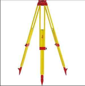Leica Gst20 9 Wooden Tripod For Total Station Theodolite Level Laser Na