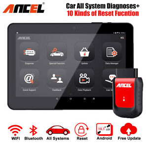 Obd2 Scanner Android Tablet Full System Diagnotic Abs Srs Epb Dpf Tpms Oil Reset