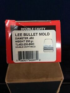 LEE BULLET MOLD DOUBLE CAVITY MOLD DIAMETER .452 WEIGHT 230 GR TL 452-230-SWC