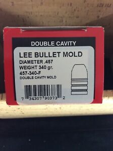 LEE BULLET MOLD DOUBLE CAVITY DIAMETER .457 WEIGHT 340 GR. 457-340-F