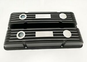 Small Block Chevy Classic Valve Covers Black With Engravable Name Plate