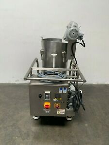 Hyclone 50l Sv50171 01 Mixer W Gtr 3phase 1 4hp Motor On Rolling Cart