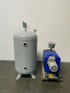 Quincy Air Compressor Qcv 040 090 W 60 Gallon Steel Fab Air Tank