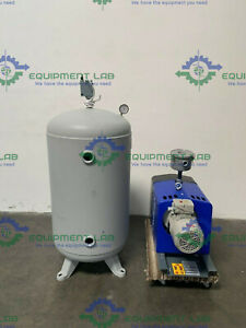 Quincy Qcv 040 090 3hp 3phase Air Compressor W 200psi Steel Fab Air Tank