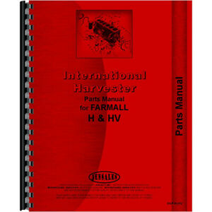 New International Harvester Hv Tractor Parts Manual