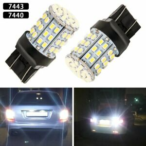 Pair 7441 7443 Led 6000k Xenon White Reverse Parking Driving Tail Light Bulb Drl