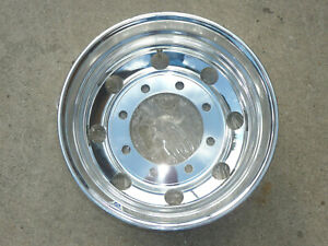 New Alcoa 19 5 X 6 75 Aluminum Polished Wheel 8 Lug X 275mm Bolt Circle