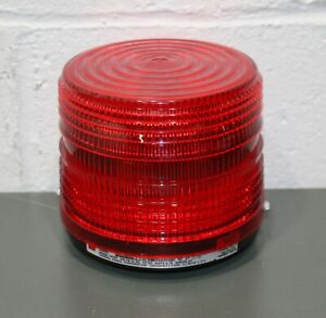 Federal Signal Red Strobe Light 141st 012r 12v Dc 80 Flashes minute 5 X 5 5