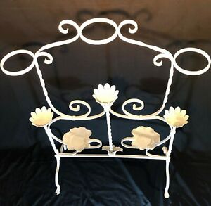 Antique Ornate Victorian Cast Iron 5 tier Retail Display Rack Or 8 Plant Stand