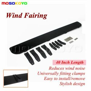 Low Profile Plastic Rack Roof Wind Fairing Windshield Deflector Kit 40 Inches