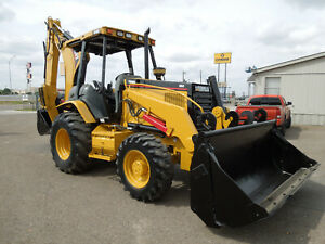 2004 Caterpillar 446d 4x4 Loader Backhoe 4in1 Bucket Extend a hoe E sticks