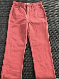 Lee Classic Fit Straight Leg Stretch Jeans Sz 10 NWT Coral Color