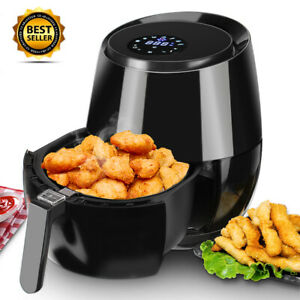 5 5qt 1400w Air Fryer Oil Free Digital Lcd Touch Cooking Kitchen Home Restaurant