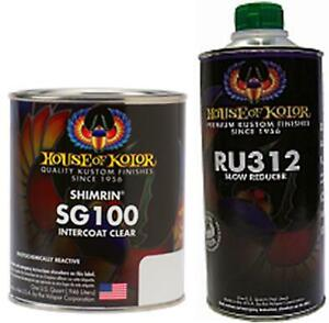 House Of Kolor C2c Sg100 Intercoat Clear Quart With Slow Reducer Quart Kit Sg100