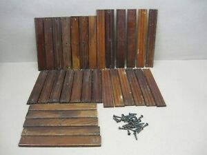 Antique Vtg Singer Treadle Electric Sewing Machine Wood Double Drawer Rails Lot