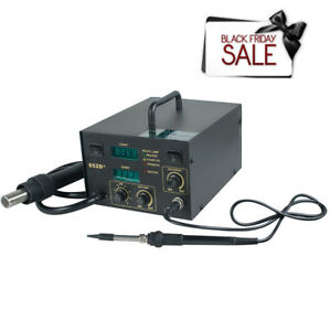 Soldering Station 852d 2 In 1 Hot Air Gun Rework Solder Station Heat Gun Machine