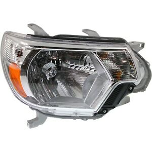 Headlight For 2012 2013 2014 2015 Toyota Tacoma Right With Bulb