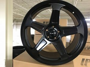 4 Dodge Demon 20 Staggered Wheels Matte Black 20x9 5 20x10 5 Challenger Charger