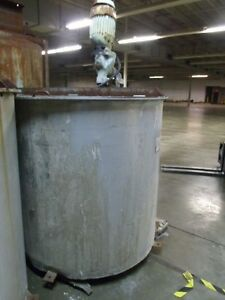 425 Gallon Stainless Steel Mixing Tank tank Only Listing Is For Wisetech1
