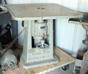 Wysong Miles Vertical Drum Spindle Sander No 293 Steampunk Cafe Table