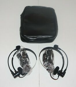 Ideal 3010 70 0015 Headset Pair W Case For Lantek 6 6a 7 7g Microphone Headphone