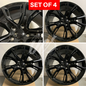 20x9 Stagger Gloss Black Srt8 Style Rims Wheels Fits Jeep Gc Wrangler 5x127