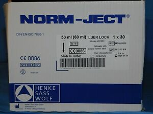 Hsw Norm ject Plastic 50ml Luer lock Syringes Air tite Sterile 4850003000 53 pk