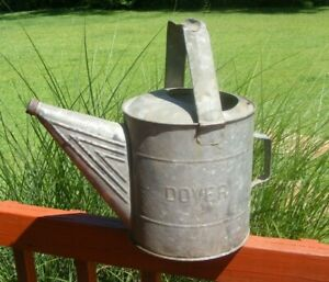 Old Vintage Dover Galvanized Garden Watering Can 710 15 Tall 9 Across