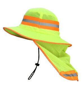 Rk Sun Shade Reflective Stripe Hard Hat Accessory Neck Shield rk hns or lm 1